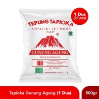 Paket Tapioka cap Gunung Agung Merah (Rose Brand) 500 Gram (1 Dus)