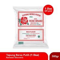Paket Hemat Tepung Beras Rose Brand (Kemasan Ekonomis) 500 Gram -1 Dus
