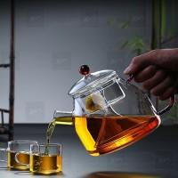 Teko Kaca Glass teapot Teapot infuser terompet 1250ml