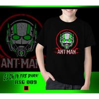 Baju Kaos Tshirt Anak Cowok Ant Man Glow In The Dark Rhymes