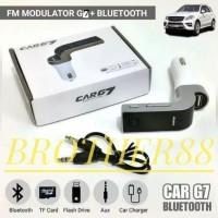 CAR G7 MODULATOR FM TRANSMITER CHARGER BLUETOOTH MOBIL AUX MP3 USB LCD