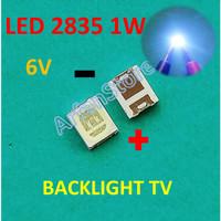 Led 2835 3528 6V 1W Cold White Backlight TV SMD Lampu Putih Terang