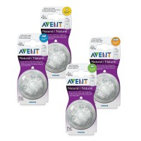 Philips Avent Natural Soft Teat Nipple Dot Wide Neck isi 2 pcs