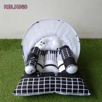 Kasur Bayi Kelambu Lipat Tempat Tidur Bayi Motif Music 060
