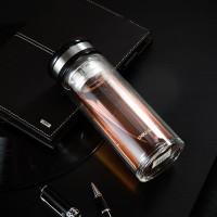 Deli Botol Air Kaca 320ml, Stainless steel Tahan Panas 898X