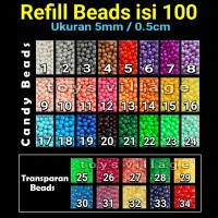 Aquabeads / Aquabead / isi ulang Aqua Beads Refill Pack / Beados /Bead