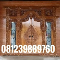 pintu gebyok rumah jawa ukiran kayu jati