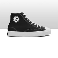 Geoff Max Official - Timeless Hi BlackWhite   Sepatu Pria