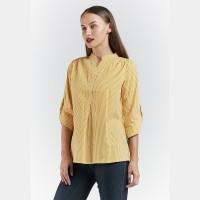 POINT ONE-NATASHA Stripe Blouse Yellow