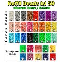 50pcs isi Ulang / Reffil Mainan Aquabeads - Aqua Bead Beads / Beados