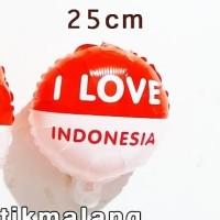 balon foil dirgahayu ri republik indonesia hut 17 agustus love hati