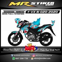 Decal Stiker Cover Body Striping Variasi motor Yamaha Vixion New