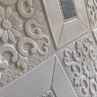 wallpaper foam peredam panas pada plafon-batik kristal silver tipe A