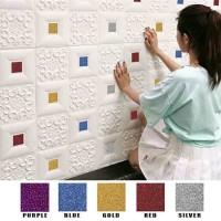 wallpaper foam peredam panas pada plafon-batik kristal mix tipe A