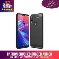 Case Asus Zenfone Max Pro M2 Casing Carbon Fiber Rugged Armor