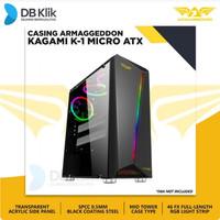 Casing ARMAGGEDDON KAGAMI K1 Excellent Micro ATX Gaming White - Hitam