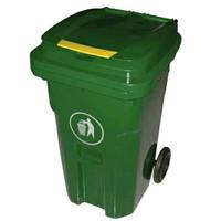 Tempat sampah outdoor neo krisbow 240 Liter Hijau dan kuning