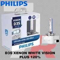 Lampu mobil HID PHILIPS D3S 42V 35W XENON WHITE VISION PLUS GEN 2 120%