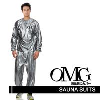 Sauna Suit OMG Jaket Celana Olah Raga Baju
