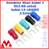 KONEKTOR SKUN KABEL Y SV2-6 1.5-2.5MM Fork Spade 16-14 AWG SEKUN 10PCS