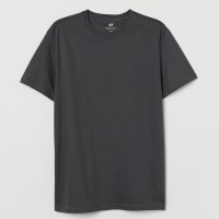 H&M Cotton T-shirt Regular Fit - Dark Grey