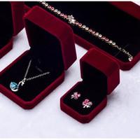 kotak perhiasan cincin kalung gelang anting box mini Red