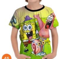 Baju SpongeBob SquarePants 3D Kaos Kartun Series Anak #45