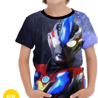 Baju Ultraman 3D Kaos Kartun Series Anak #69