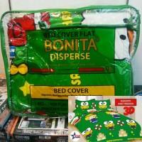 Set Badcover Lengkap Bonita 3D Design ukuran 180x200 Full Terbaru