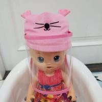 TOPI BAYI ANTI CORONA TOPI BAYI FACE SHIELD BABY - Pink Muda