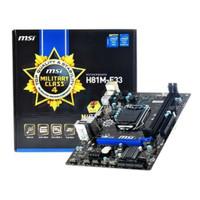 Paketan Motherboard MSI H81M-E33 + Proc Intel I5 4570/4590 Tray