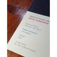 Kertas A3+ Fine Paper Paperina Royal Sndnce Felt Nat Whte 176gsm 20LBR
