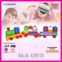 Balok Kereta api - Mainan Edukasi Edukatif Anak Puzzle Kayu