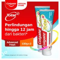 Colgate Total Advanced Fresh Toothpaste/Pasta Gigi 150gr - Twin Pack