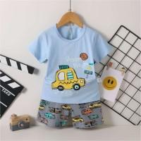 Piyama import / Baju tidur anak cowok motif car umur 1 - 4 tahun.