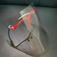 Face Shield Kacamata Nagita Pelindung Wajah Bening - Merah Putih