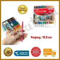 Krayon PUTAR Crayon oil pastel TITI mini set 12 warna murah premium