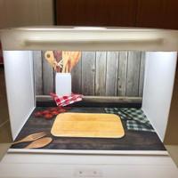 Paket Studio mini dan alasfoto ukuran A2 (45x32cm) motif alat dapur
