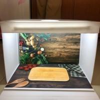 Paket Studio mini dan alasfoto ukuran A2 (45x32cm) motif sayur