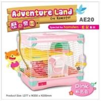 AE20 Alice Adventure Land for Hamster Pink Kandang Jeruji 2 Lantai