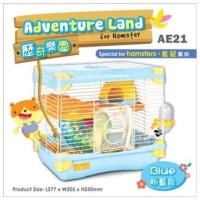 AE21 Alice Adventure Land for Hamster Blue Kandang Jeruji 2 Lantai
