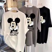 Kaos Mickey Mouse Day Dreaming T-Shirt Oversized Lisa Blackpink