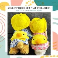 Yellow Duck Set Baju Anjing Kucing Kelinci dll