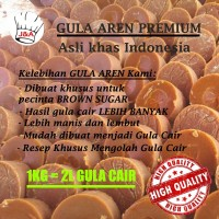 Gula Aren Batok Premium 1Kg 100% Asli Indonesia Brown Sugar Gula Merah
