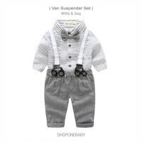 Long Shirt Vest Boy Set Party Baju Dasi Anak Bayi Rompi Cowo Pesta VAN - 95/100