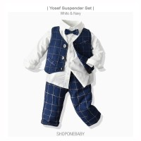 Long Shirt Vest Boy Set Party Baju Dasi Anak Rompi Cowo Pesta Yosef