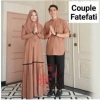 Baju Gamis Remaja Syar'i Couple Suami Istri Keluarga Lebaran Terbaru F