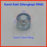 Kaki Karet Clear + RING / Alas Bulat Bening Kursi Meja Bangku Sofa