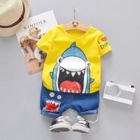Baju Baby Shark Setelan Anak Import