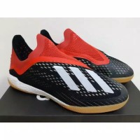 SEPATU FUTSAL ADIDAS X TANGO 18+ IN INITIATOR PACK BLACK RED WHITE GUM